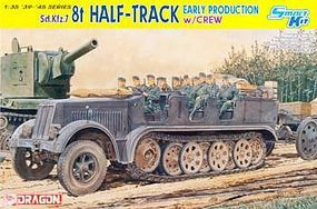 DML SD.KFZ.7 8T Halftrack w/Riders Smart Kit Plastic Model Halftrack Kit 1/35 Scale #6545