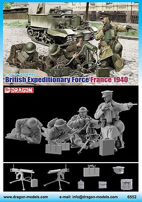 DML British Expeditionary Force France 1940 Plastic Model Military Figure 1/35 Scale #6552