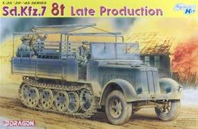 DML SdKfz 7 8-Ton Late Halftrack Plastic Model Halftrack Kit 1/35 Scale #6562