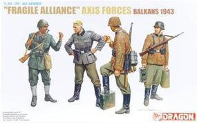 DML Fragile Alliance Axis Forces Balkan 1943 (4) Plastic Model Military Figure 1/35 Scale #6563