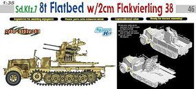 DML SdKfz 7 8-Ton Flatbed Halftrack Plastic Model Halftrack Kit 1/35 Scale #6583