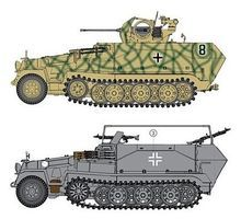 DML Sd.Kfz. 251/17 Ausf.C Command Version Plastic Model Military Vehicle 1/35 Scale #6592