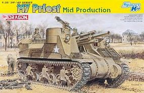 M7 Priest Mid Production Plastic Model Tank Kit 1/35 Scale #6637