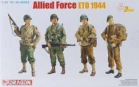DML Allied Force ETO 1944 (4 Figure Set) Plastic Model Military Figure 1/35 Scale #6653