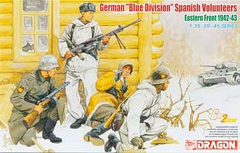 DML German Blue Div Spanish Volunteers Eastern Front 1942-43 Plastic Model Military 1/35 #6674