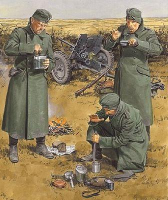 Chow Time German Anti-Tank Gun Crew