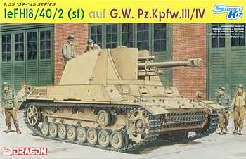 DML leFH18/40/2 (Sf) Gun on GW PzKpfw III/IV Tank Plastic Model Tank Kit 1/35 Scale #6710
