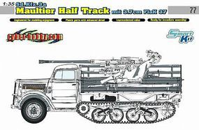 DML SdKfz 3a Maultier Halftrack w/3.7cm Flak Gun Plastic Model Military Vehicle Kit 1/35 #6768