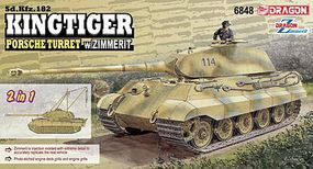 Sd.Kfz.182 Kingtiger Porsche Turret Plastic Model Military Vehicle Kit 1/35 Scale #6848