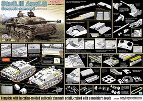 DML Concrete Armored StuG.III Ausf.G w/Zimmerit Plastic Model Military Vehicle Kit 1/35 #6891