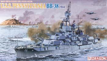 Dragon Models 1/700 USS Pennsylvania BB38 Battleship 1944