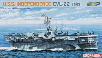 DML USS Independence Class AC Prm Ed Plastic Model Military Ship Kit 1/700 Scale #7054