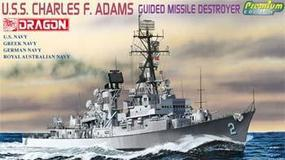 DML USS Charles F Adams DDG-2 Plastic Model Destroyer Kit 1/700 Scale #7059