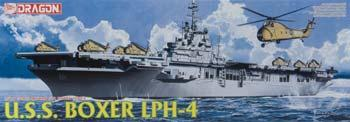 Dragon Models USS Boxer LPH-4 Helicopter Carrier -- Plastic Model Military Ship Kit -- 1/700 Scale -- #7070