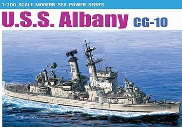 DML USS Albany CG10 Guided Missile Cruiser Plastic Model Crusier Kit 1/700 Scale #7097
