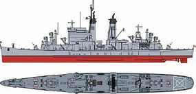DML USS Chicago CG11 Baltimore Class Cruiser Plastic Model Crusier Kit 1/700 Scale #7121