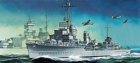 DML German Z-38 Destroyer Smart Kit Plastic Model Destroyer Kit 1/700 Scale #7134