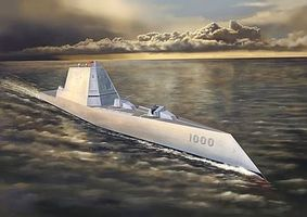 DML USS Zumwalt Class Destroyer DDG-1000 Plastic Model Destoyer Kit 1/700 Scale #7141