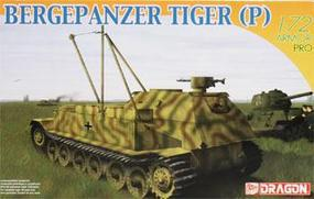 DML Bergepanzer Tiger (P) Armored Recovery Vehicle Plastic Model Armored Vehicle 1/72 #7227