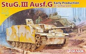 DML StuG III Ausf G Early Tank w/Side-Skirt Armor Plastic Model Tank Kit 1/72 Scale #7354
