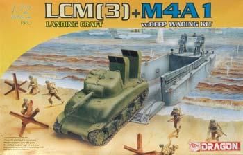 DML LCM(3) + M4A1 w/Deep Wading Kit Plastic Model Military Ship 1/72 Scale #7360