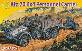 DML Kfz 70 6x4 Personnel Carrier & 3.7cm PaK 35/36 Plastic Model Military Vehicle 1/72 #7377