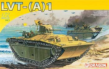 DML Landing Vehicles Tracked LVT (A) 1 Plastic Model Military Vehicle Kit 1/72 Scale #7387