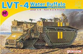 DML LVT4 Water Buffalo Late & 1/4-Ton Jeep Plastic Model Military Vehicle Kit 1/72 Scale #7389