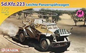 DML SdKfz 223 Lecher PzSpahWg (2 Kits) Plastic Model Armored Vehicle 1/72 Scale #7420