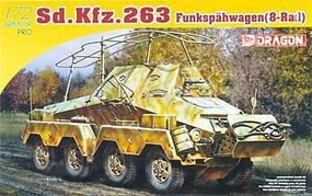 DML Sd.Kfz.263 Schwerer Panzerspahwagen Plastic Model Armored Vehicle 1/72 Scale #7444