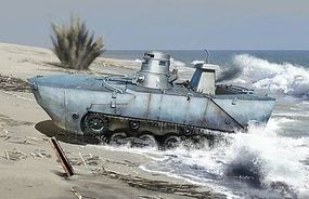 DML IJN Type 2 Amphibious Tank w/Floating Pontoon Plastic Model Tank Kit 1/72 Scale #7485