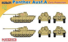 DML Sd.Kfz.171 Panther A Early Production Plastic Model Military Vehicle Kit 1/72 Scale #7499