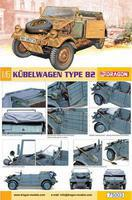 DML Kubelwagen Plastic Model Military Vehicle Kit 1/6 Scale #75003