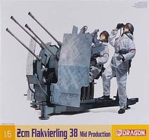 DML 2cm Flakvierling 38 Mid Prodcution Plastic Model Military Vehicle Kit 1/6 Scale #75018