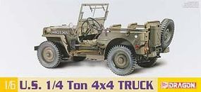 DML 1/4 Ton 4x4 Truck Plastic Model Military Vehicle Kit 1/6 Scale #75020