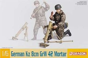 DML German Kz 8cm GrW 42 Mortar Plastic Model Weapons Kit 1/6 Scale #75023