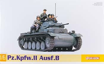 DML Pz.Kpfw II Ausf.B Plastic Model Military Vehicle Kit 1/6 Scale #75025