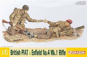 DML British PIAT & Enfield No.4 Mk I Rifle Plastic Model Weapons Kit 1/6 Scale #75027
