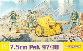 DML 7.5cm Pak 97/38 Plastic Model Artillery Kit 1/6 Scale #75028