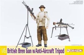 DML British Bren Gun w/Anti-Aircraft Tripod Plastic Model Weapons Kit 1/6 Scale #75030