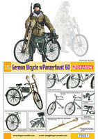 DML German Bicycle & PzFaust 60 Anti-Tank Weapons Plastic Model Military Diorama 1/6 #75031