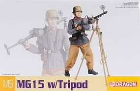 DML MG15 with Tripod Plastic Model Military Diorama 1/6 Scale #75033