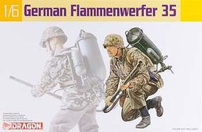 DML German Flame Thrower Plastic Model Weapons Kit 1/6 Scale #75036