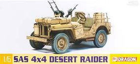 DML SAS 4x4 Desert Raider Jeep Plastic Model Military Vehicle Kit 1/6 Scale #75038