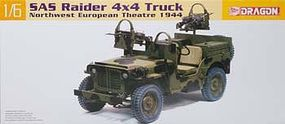 DML SAS Raider 4x4 Jeep NW Europe 1944 Plastic Model Military Jeep Kit 1/6 Scale #75042