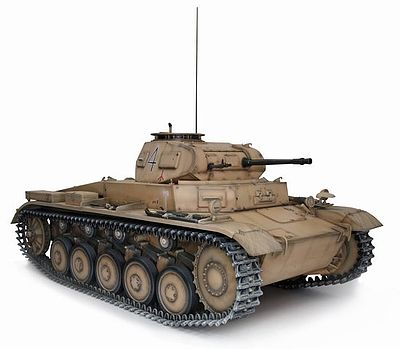 Dragon Models PzKpfw II Ausf C Tank -- Plastic Model Tank Kit -- 1/6 Scale -- #75045