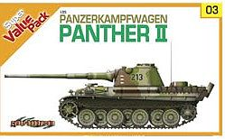 DML PzKpfw Panther II Tank w/German Crew Plastic Model Military Vehicle Kit 1/35 Scale #9103