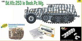 DML SdKfz 253 leBeobPzWg Halftrack w/Crew Plastic Model Halftrack Kit 1/35 Scale #9128