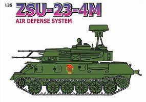 DML ZSU23-4M Air Defense System w/Motor Rifle Troops Plastic Model Military Tank Kit 1/35 #9130