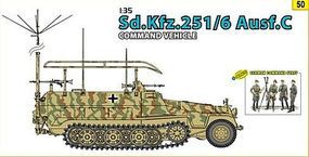 DML SdKfz 251/6 Ausf C Command with Crew Plastic Model Military Vehicle Kit 1/35 Scale #9150